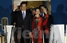 Thủ tướng kết thúc chuyến dự hội nghị hạt nhân