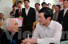 Chủ tịch nước thăm, làm việc tại tỉnh Quảng Nam