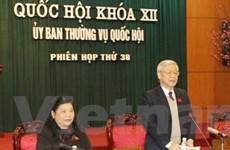Khai mạc phiên họp 38 Ủy ban Thường vụ Quốc hội