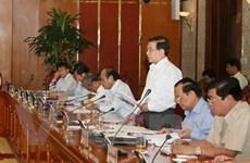Đại diện Bộ Chính trị làm việc với 6 Đảng bộ tỉnh