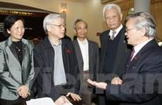 Chủ tịch Quốc hội tiếp xúc cử tri thành phố Hà Nội