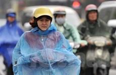 Miền Bắc có mưa trên diện rộng, thời tiết mát mẻ