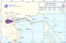 Áp thấp nhiệt đới đã suy yếu thành vùng áp thấp