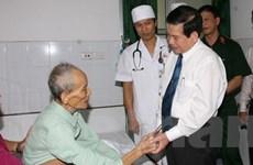 Chủ tịch nước thăm và tặng quà thương bệnh binh