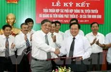 Hợp tác thông tin giữa tỉnh Ninh Bình và TTXVN