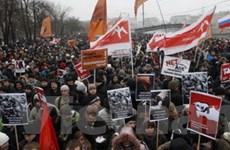 Míttinh rầm rộ ủng hộ hai ông Medvedev và Putin