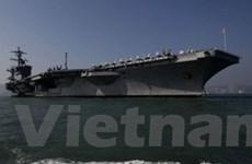 Tàu sân bay Mỹ USS Carl Vinson vào Vịnh Persian
