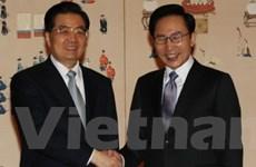 Ba nước bàn về kế hoạch phóng tên lửa Triều Tiên