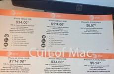 Walmart hạ giá... nhầm iPhone 4 và 4s của AT&T