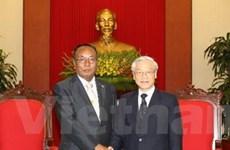 Tổng Bí thư tiếp Chủ tịch Thượng viện Myanmar