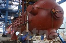 Lắp bao hơi số 1 nhà máy Nhiệt điện Mông Dương 2