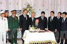 Đoàn cấp cao VN viếng Thái Thượng hoàng Sihanouk
