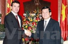 Chủ tịch nước tiếp Bộ trưởng Ngoại giao Macedonia