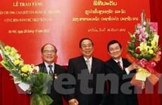 Các lãnh đạo, nguyên lãnh đạo nhận Huân chương Lào