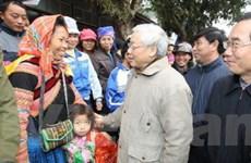 Tổng Bí thư Nguyễn Phú Trọng làm việc tại Lào Cai