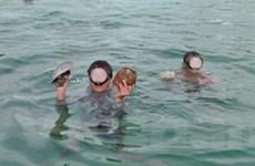 Trục vớt hiện vật trên tàu cổ đắm ở biển Quảng Ngãi