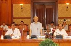 Ban Bí thư Trung ương Đảng làm việc với Hà Giang