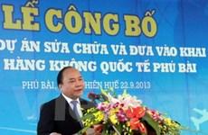 Huế đã đưa sân bay quốc tế Phú Bài vào hoạt động