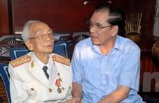Các lãnh đạo chúc thọ Đại tướng Võ Nguyên Giáp
