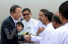 Tổng Thư ký LHQ Ban Ki-moon đến thăm Myanmar