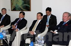 Chủ tịch nước dự phiên họp kín Hội nghị APEC