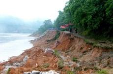 Bờ sông Thạch Hãn sạt lở vì nạn khai thác cát