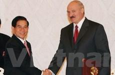 Hai nước Việt Nam và Belarus ra tuyên bố chung