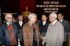 Tổng Bí thư, Chủ tịch Quốc hội tiếp xúc cử tri Hà Nội