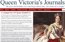Công bố trang web nhật ký của Nữ hoàng Victoria