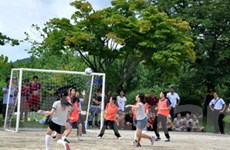 Lưu học sinh Việt tại Hàn Quốc tranh tài thể thao