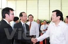 Chủ tịch nước thăm và làm việc tại tỉnh Bình Dương