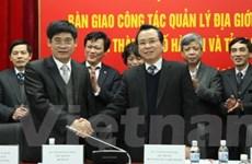 Bàn giao địa giới hành chính giữa Hà Nội và Hòa Bình