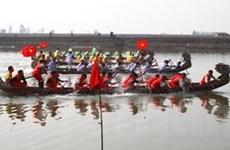 Sôi động lễ hội bơi chải truyền thống ở Diêm Điền