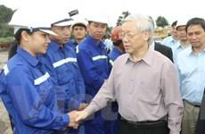 Tổng Bí thư thăm công nhân vùng mỏ Quảng Ninh