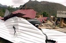 Gió lốc mạnh lại hoành hành dữ dội tại tỉnh Lào Cai
