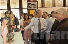 Trưng bày các hiện vật, di sản văn hóa Phật giáo