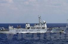 Tàu hải cảnh Trung Quốc lần đầu tiếp cận Senkaku