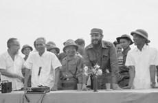 Chủ tịch Cuba Fidel Castro với nhân dân Quảng Trị