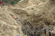 Sập hầm vàng làm 2 người chết, 1 người bị thương
