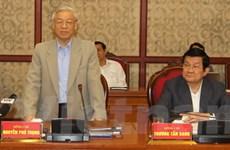 Bộ Chính trị làm việc với Thường vụ Thành ủy Đà Nẵng