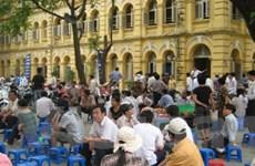 Trường thi đại học biến thành… chợ phiên
