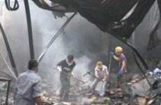 Cháy lớn thiêu rụi gần 500 m2 xưởng sản xuất