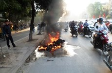 Honda VN: Xe SH cháy không phải hàng chính hãng!