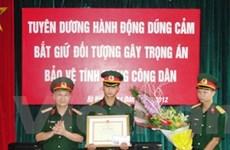 Khen thưởng Thiếu úy quân đội dũng cảm bắt cướp