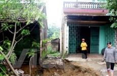 Di dời gấp các hộ vùng sụt lún đất tại Thanh Ba