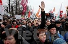 Các tài xế ở Nga biểu tình kêu gọi bầu cử tự do