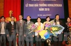 Trao giải Kovalevskaia 2011 cho 2 nhà khoa học nữ