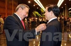 Chủ tịch nước nhận huân chương Jose Marti