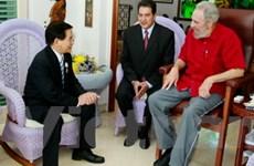 Chủ tịch nước thăm lãnh tụ Cuba Fidel Castro