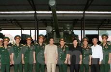 Tổng Bí thư thăm Binh chủng Tăng-Thiết giáp